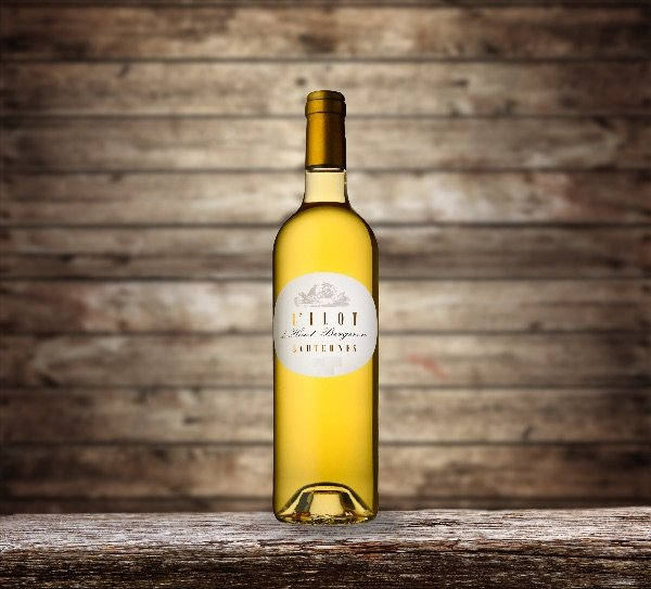 Bottle of Sauternes - French Sweet White Wine - L'Ilot Haut Bergeron