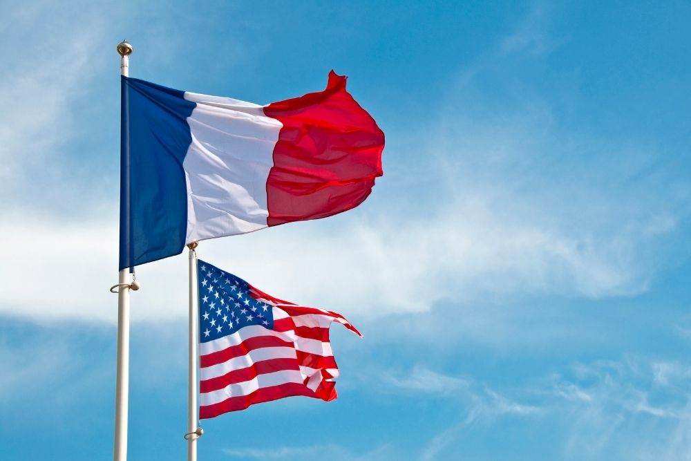 French Flag & US Flag: Thomas Jefferson - Independence of Wine Preferences
